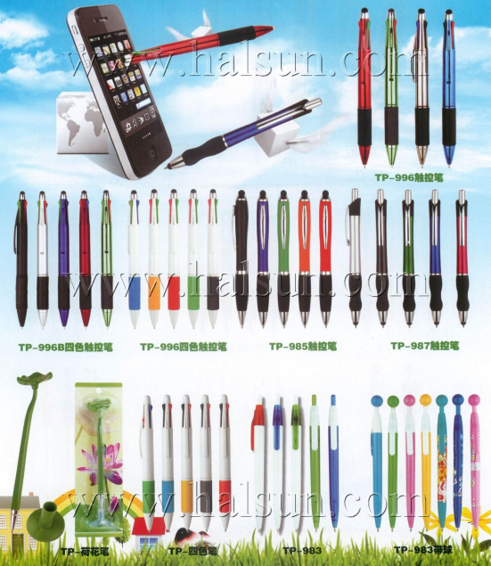 4 color pen with Stylus,Iphone stylus with 4 color pens, 5 in one pens,TP-996,Lotus Leaf Pens,Promotional Ballpoint Pens_2014_09_21_15_23_10
