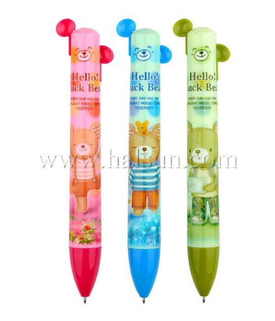 2 in one pen_multi color pens_2 color pens_2 color pen with ears_Promotional Ballpoint Pens_Custom Pens_HSHCSN0039