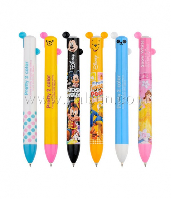 2 in one pen_multi color pens_2 color pens_2 color pen with ears_Promotional Ballpoint Pens_Custom Pens_HSHCSN0198