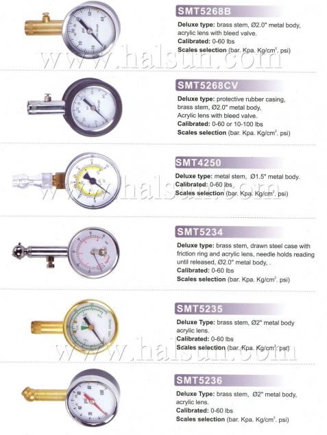 Deluxe Dial Type Tire Gauges,bress stem,metal body,acrylic lens with bleed valve,