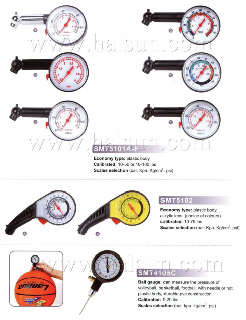 Economy Dial Type Tire Gauges,Basketball pressure gauges,volleyball pressure gauges,Plastic Body Tire gauges,SMT5102