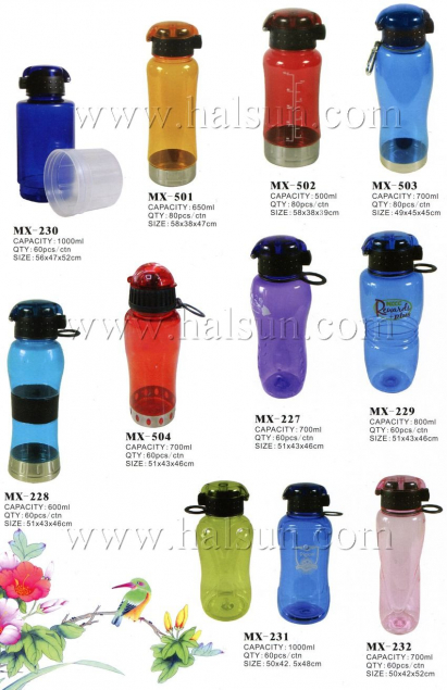 one-hand push button water bottles,700ml,600ml,MX-228